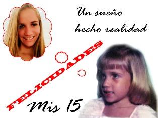 Hoy son los 15 de mi querida sobrina Marbelis
