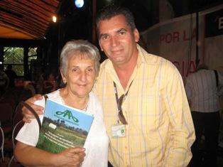 Irma Sehweret, la madre de René, agradeció solidaridadad  con la causa de los Cinco