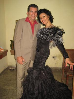 Con Farah María en el Festival Barbarito Diez