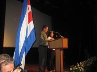 En el acto provincial por el Dia de la Prensa Cubana