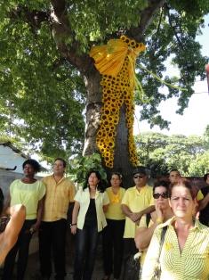Volaron cintas y lazos amarillos en Las Tunas